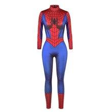 Halloween araignée toile daraignée Costume combinaison toile daraignée Catsuit femmes adultes Zentai héros Cosplay fête tenue de fantaisie pour les filles de dame