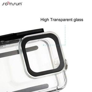 Image 2 - SOONSUN 45M Wasserdichte Schutz Gehäuse Tauchen Fall mit Dive Farbe Objektiv Filter für GoPro Hero 8 Schwarz Zubehör