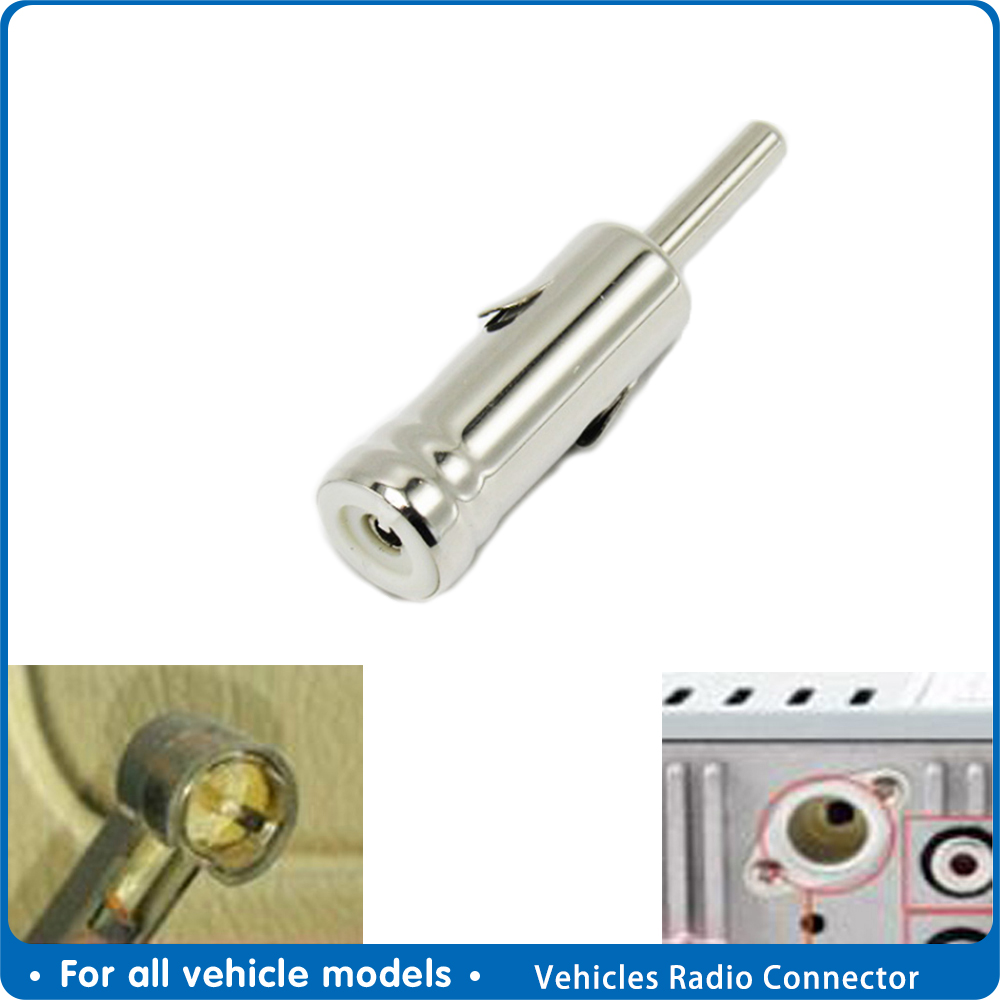 Car Vehicles Radio Stereo Iso To Din Aerial Antenna Mast Adapter Connector Plug Car Internal Accessories
