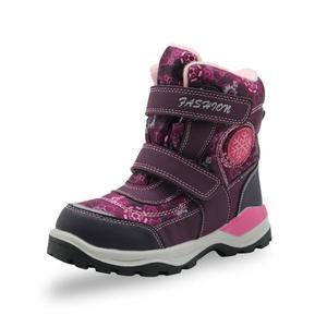 Image 1 - Зимние ботинки для девочек; Детские водонепроницаемые теплые шерстяные ботильоны; Зимние ботинки для снежной погоды, пешего туризма, альпинизма; Уличная спортивная обувь