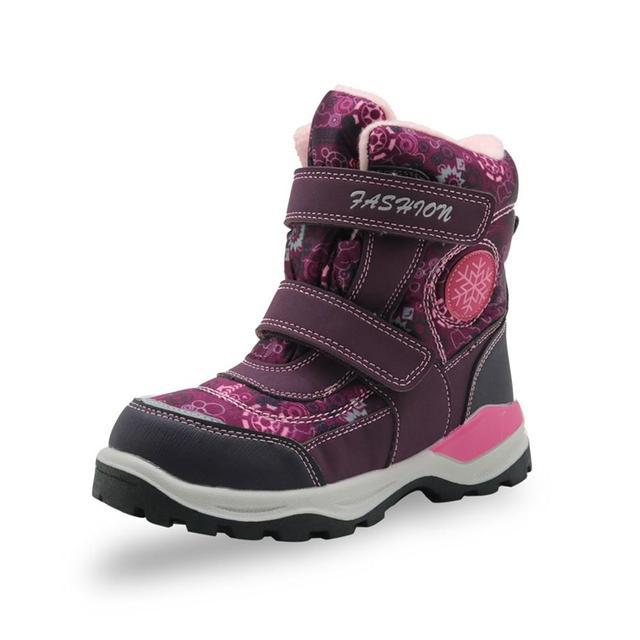 Зимние ботинки для девочек; Детские водонепроницаемые теплые шерстяные ботильоны; Зимние ботинки для снежной погоды, пешего туризма, альпинизма; Уличная спортивная обувь