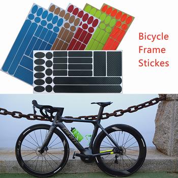 1Pc rowerowe naklejki na ramę łańcuch rowerowy Protetor taśma MTB ochronna jazda na rowerze odporna na zarysowania osłona Paster tanie i dobre opinie