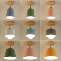 Led ضوء السقف الحديثة الخشب مصباح السقف خمر Plafondlamp غرفة المعيشة الملونة E27 Plafonnier lamvillage تكنو Deckenleuchten