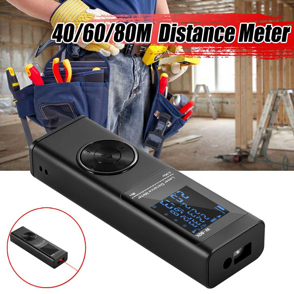 Mini Laser Abstand Meter 40/60/80M Laser-entfernungsmesser Range Finder Band Ultraschall-entfernungsmesser Meter Bauen Gerät herrscher Test Werkzeuge