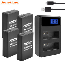 Powtree 1500mAh EN-EL14 EN EL14 Battery + USB Dual Charger for Nikon P7800,P7700,P7100,P7000,D5500,D5300,D5200 L15