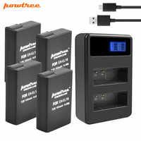 Powtree 1500mAh batterie EN-EL14 en-el14 + USB double chargeur pour nikon d5200 batterie P7800, P7700, P7100, P7000, D5500, D5300, D5200 L15