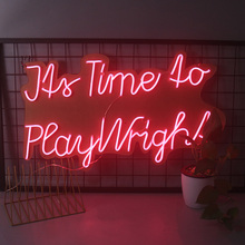 Wright Led-Neon-Sign Wedding Custom Play Home-Create-Your-Own-Design Ce for Its-Time
