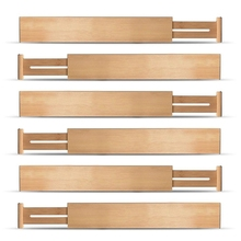 Регулируемые расширяемые разделители бамбуковые разделители ящиков органайзеры ящиков натуральный бамбук лучший для кухни, комода, спальни, Bathro