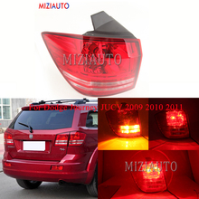 MIZIAUTO Rear tail light Outer Side For Dodge Journey JUCV 2009 2010 2011 Rear Bumper Light Tail Stop Lamp Brake Light Fog lamp miziauto rear tail light outer side for toyota corolla 2003 2004 2005 2006 brake light rear bumper light tail stop lamp fog