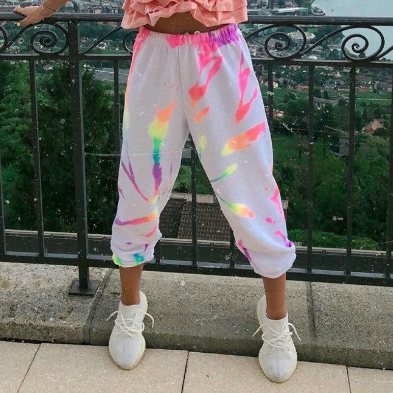 Women Tie-dye Harajuku Casual Trousers Homewear  Printed Loose Hiking Fitness Sweatpants 2020 Spring Autumn