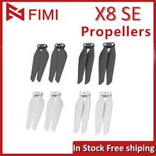 FIMI X8 SE oryginalny 4 sztuk 8 sztuk śmigła czarny biały części zamienne do quadcoptera RC składane śmigła FIMI X8 SE 2020 akcesoria tanie tanio XIAOMI Śmigła Approx 45g FIMI X8 SE propellers as show Black White