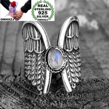 OMHXZJ venta al por mayor anillo de Plata de Ley 925 para fiesta de cumpleaños de niña de moda europea