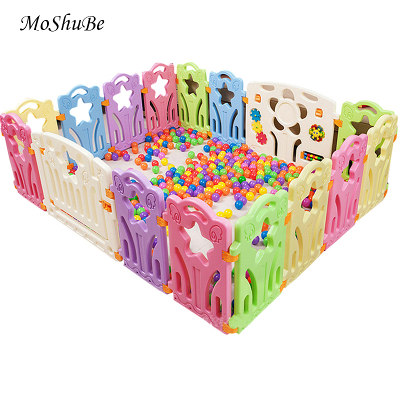 Baby Playpens For Indoor&Outdoor Kids Play Yard Children Baby Ball Pool Fence Kids Activity Gear Plastic Barrier Game Fence