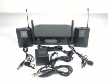 Высокое качество GLXD14 UHF Беспроводной поясной Системы двухканальный Беспроводной поясной с полета чехол для Горячая распродажа!