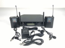 High Quality GLXD14 UHF Wireless beltpack System Dual Channel Wireless  bodypack with Flight Case for hot selling