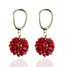 Earrings New Arrival Fashion Crystal Jewelry Glamour Pendientes Dangle Round Joyas de mujer Christ