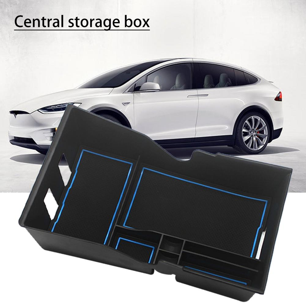 New Style Car Armrest Box Storage Central Console Organizer For Tesla Model 3 Accessories ABS Plastic