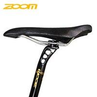 Zoom tija ajustable mtb seat post hollow canote alloy high end Flat alloy aluminum lock 27.2 250mm 300mm flat bike seatpost
