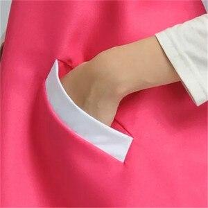 Image 3 - 2019 יופי סלון קוסמטיקאית בגדי עבודת סינר קוריאני גרסת אופנה נייל מלצרית שרוולים חצאית נשי סופרמרקט סינר