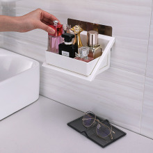 Plastic Storage Rack Bathroom Jewelry Basket Rectangular Box Wall Hanging