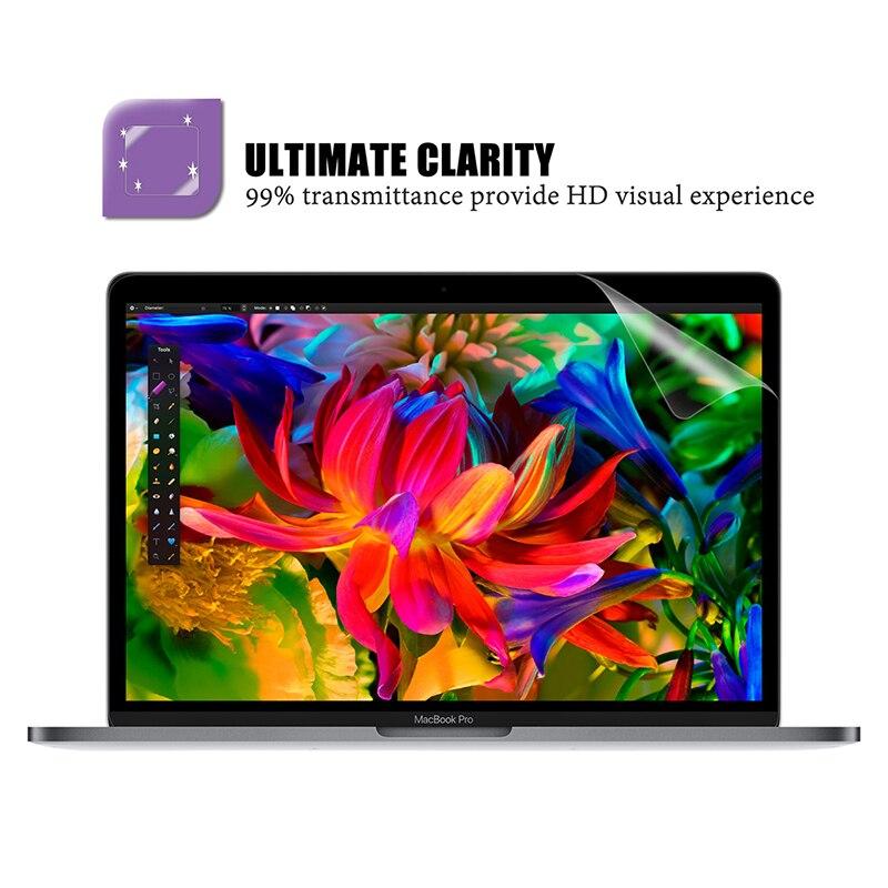 Protetor de tela para macbook pro 15 polegada 2019 modelo a1707/a1990, filme hd com revestimento hidrofóbico proteger macbook pro15 pele-1