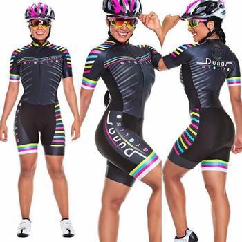 2019 pro equipe triathlon terno feminino camisa de ciclismo skinsuit macacão maillot ciclismo ropa ciclismo conjunto rosa almofada gel 1
