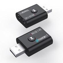 USB kablosuz Bluetooth 5.0 alıcı adaptörü müzik hoparlörler 3.5mm AUX araba Stereo ses adaptörü verici TV kulaklık