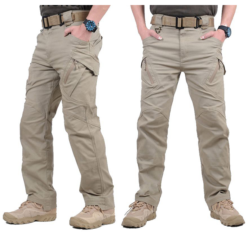 IX9 City Tactical Cargo Pants Men Combat SWAT Army Military Pants Cotton Many Pockets Stretch Flexible Man Trousers XXXL