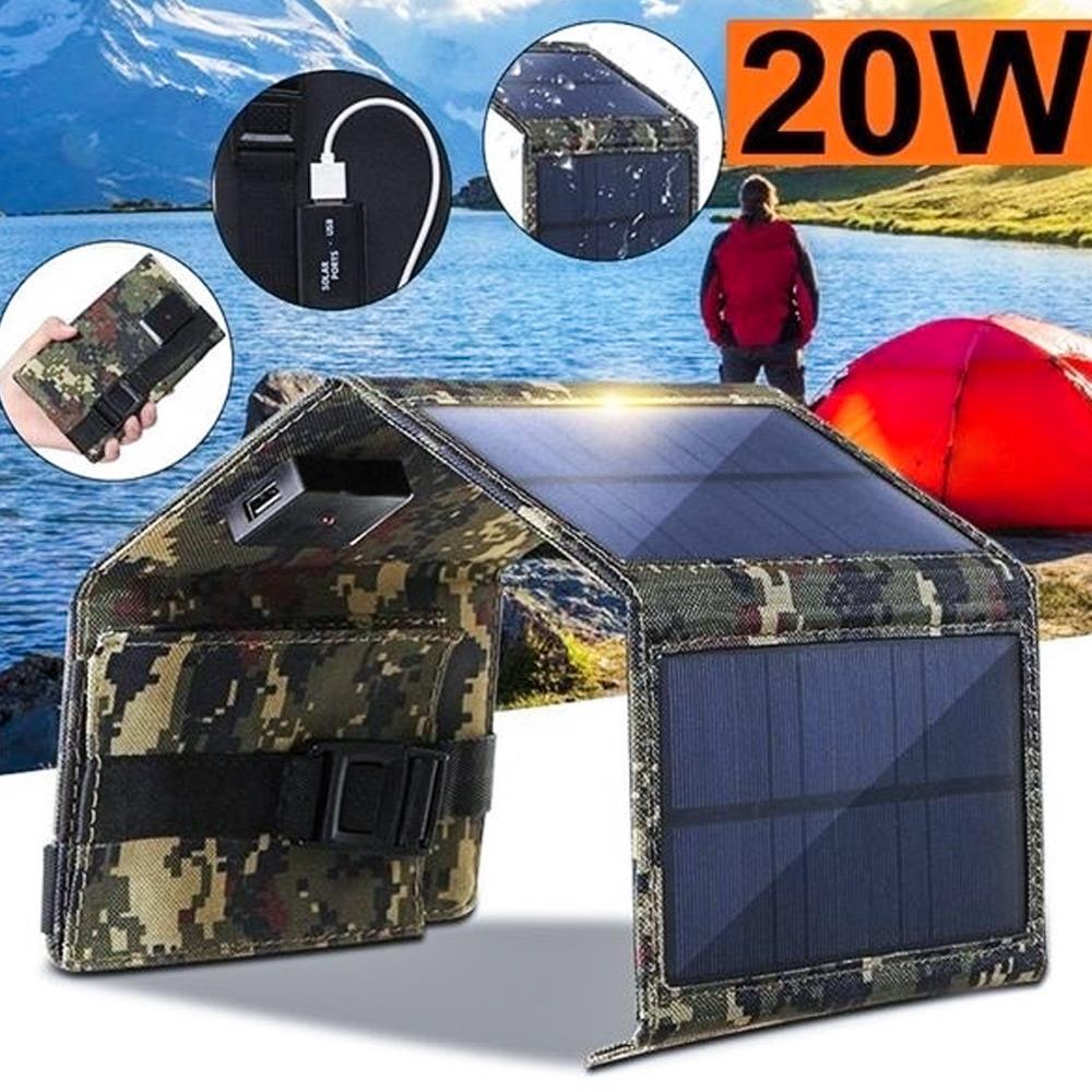 20 w 5 v painel solar placa dobravel sunpower carregador solar portatil carregadores de bateria solar