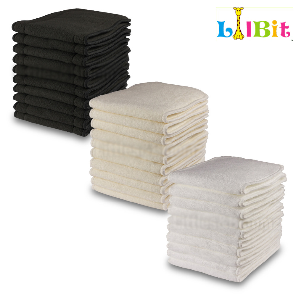 1 Pcs Reusable Washable Inserts Boosters Liners For Real Pocket Cloth Nappy Diaper Cover Wrap Microfibre Bamboo Charcoal Insert