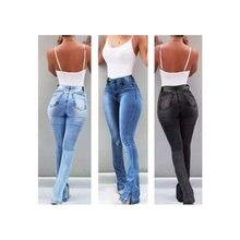 Расклешенных расклешенные джинсы брюки Для женщин Зауженные