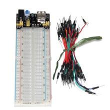 цена на 3.3V/5V MB102 Breadboard power module+MB-102 830 points Solderless Prototype Bread board kit +65 Flexible jumper wires