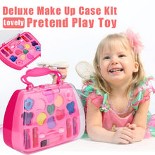 Funny Toy Boy Girl Princess Girl's Pretend Play Toy Deluxe Makeup Palette Set For Kids Education Hobby Funny Groceries Kid Gift(China)