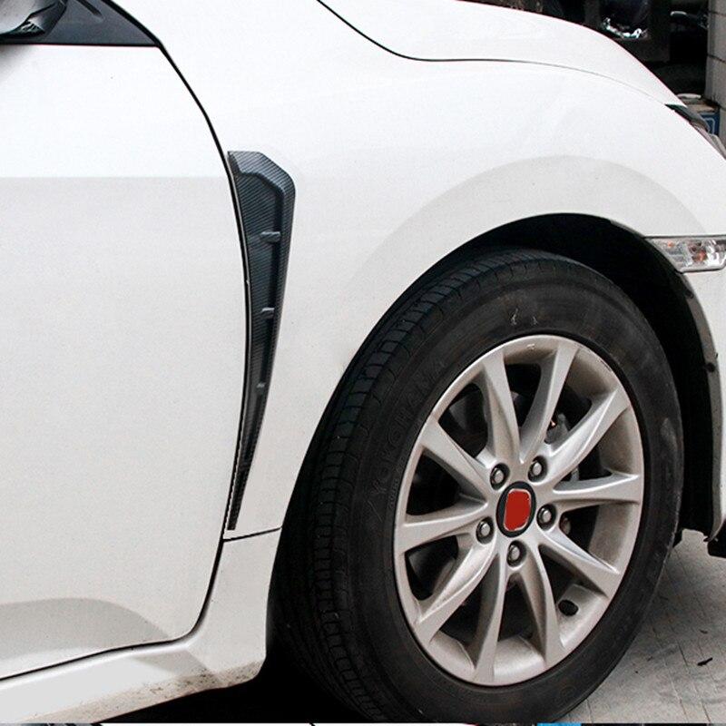 Guardabarros delantero del coche cubierta lateral de la ventilación del aire ribete alas de tiburón pegatina de ventilación lateral para BMW e90 e60 f30 f18 f48 f25 f26 1345series x1