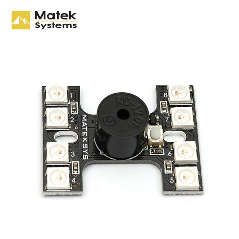 Matek LED Tail Light WS2512B With Loud Buzzer Dual Modes For FPV Racer Multicopters Racing Drone Quadcopter