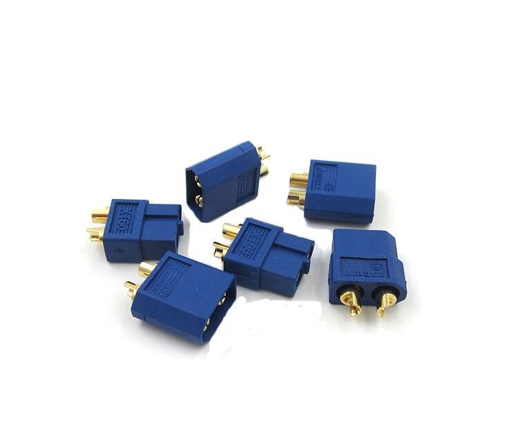 10 Piece Original xt60 Connector Male Male High Current ESC Lipo Battery Connector 60a