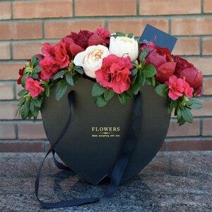 2019 новая портативная подарочная коробка в форме сердца, Цветочная коробка, Подарочная коробка для обнимания, Цветочная Подарочная коробка, ...