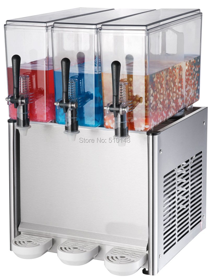 BAYSJ12X3 Juice Dispenser Larger Capacity Three Tanks 12Lx3 For Commercial Use Heating Cooling