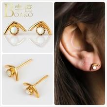 Vintage Opal Earrings For Women Engagement Party Geometric Fire Stud Girl Gift Australia Gem Stone Earring K5