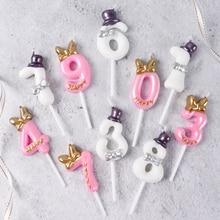 Cakelove, 1 шт., 0-9, свечи для торта, товары для дня рождения, украшения для торта, украшения для торта на годовщину, цифры торта, вечерние свечи