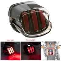 Motorrad LED Rücklicht Rauch Objektiv Brems License Platte Lampe Hinten Stop 12v Für Harley Dyna Road King Softail touring