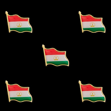 5PCS Tajikistan Emblem Badge Country Flag Brooch Tie Lapel Unisex Pins Crafts Collection