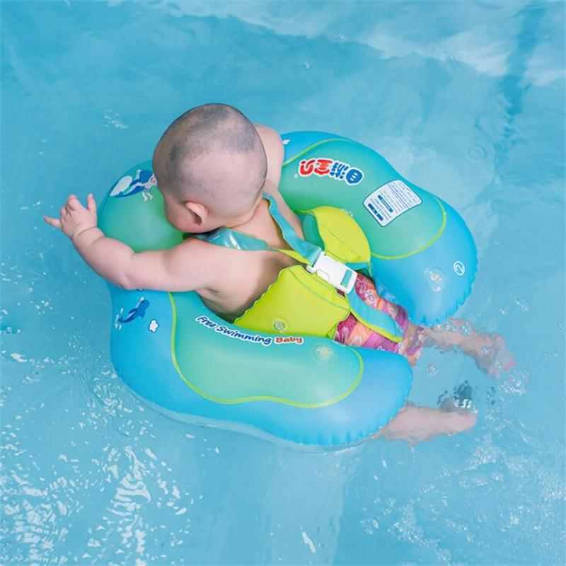 Widened Sides Design Anti-flip Kids Float Baby Swimming Ring Inflatable Swim Pool Accessories Circle Bath Inflatable Ring Toy
