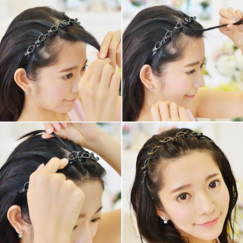 Duplo franja penteado hairpin hairdressing hairpin fácil de usar clipe sk88