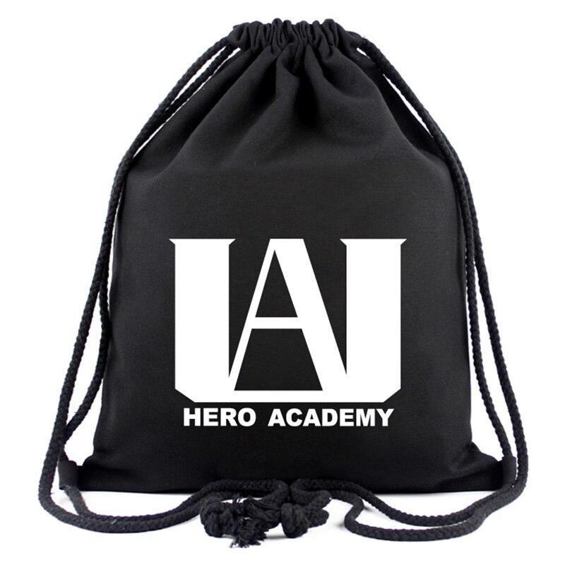 Anime Boku No Hero Academia Shoto Deku Allmight Split Drawstring Bag Children School Bags Teenagers Girls Boys Travel Bags