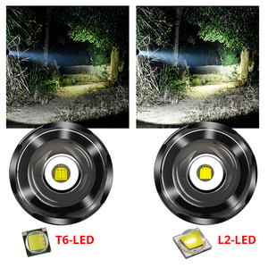 Image 2 - 1 מצב LED פנס T6/L2 טקטי פנס אלומיניום ציד פלאש אור לפיד מנורת + 18650 + מטען + אקדח הר לציד