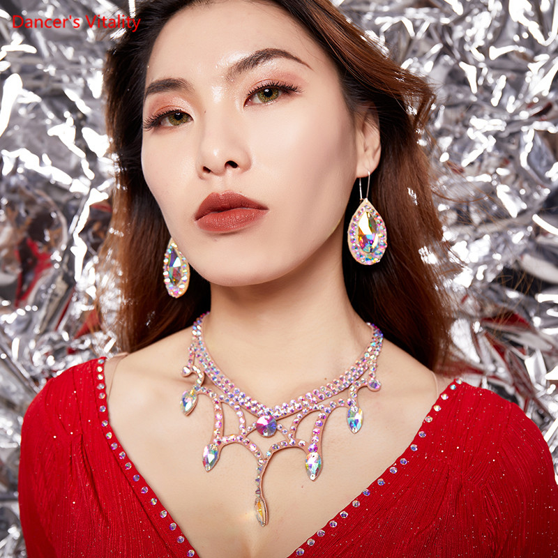 Belly Dance Necklace Hot Diamond Dance Jewelry Performance Jewelry New Style Flash Stage Performance Accessories