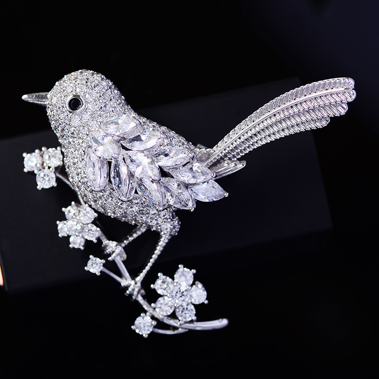 Bird Brooch Pins Magnet Pin Cute Pins Accessories for Clothes Decoration Brooch Pins Fine Jewelry Copper Brooch Zircon Brooche-3