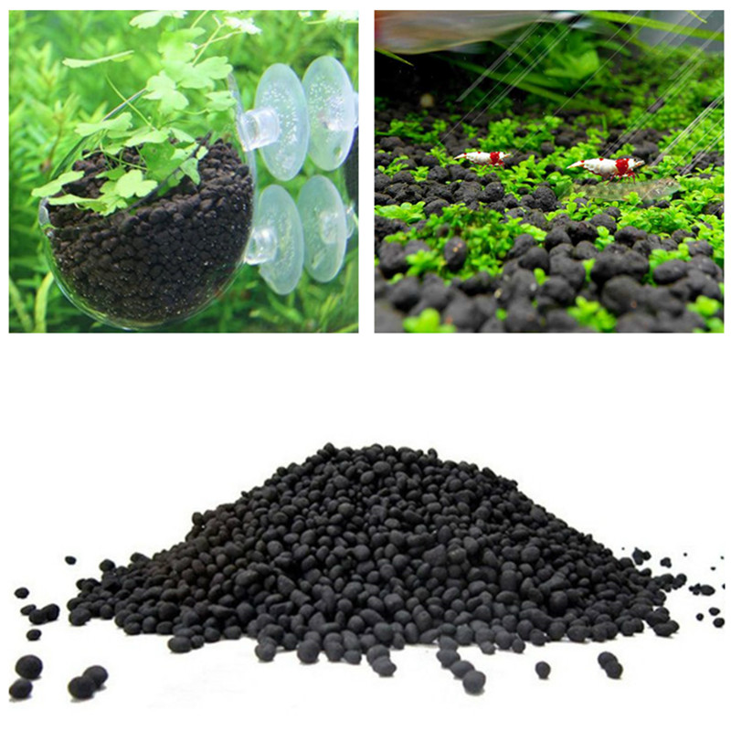 50-500g Fish Tank Water Plant Fertility Substrate Sand Aquarium Plant Soil Substrate Gravel For Fish Tank Water Moss Grass Lawn image