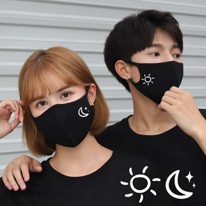 2PCS Cotton PM2.5 Black Mouth Mask Anti Dust Mask Activated Filter Windproof Mouth-muffle Bacteria Proof Face Masks Care